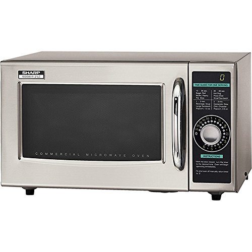 Sharp R-21LCF Commercial Microwave Oven, Dial, 1000 Watts