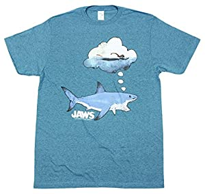 ユニセックス Tシャツ 【JAWS ジョーズ / ドリーミー スナック デザイン / M サイズ / パシフィックブルー】 【並行輸入品】