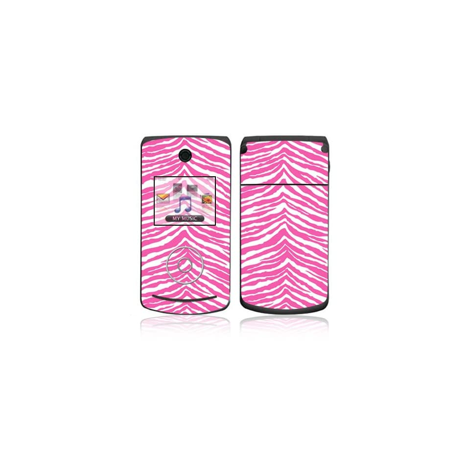 Pink Zebra Decorative Skin Cover Decal Sticker for LG Chocolate 3 / Chocolate III Cell Phone