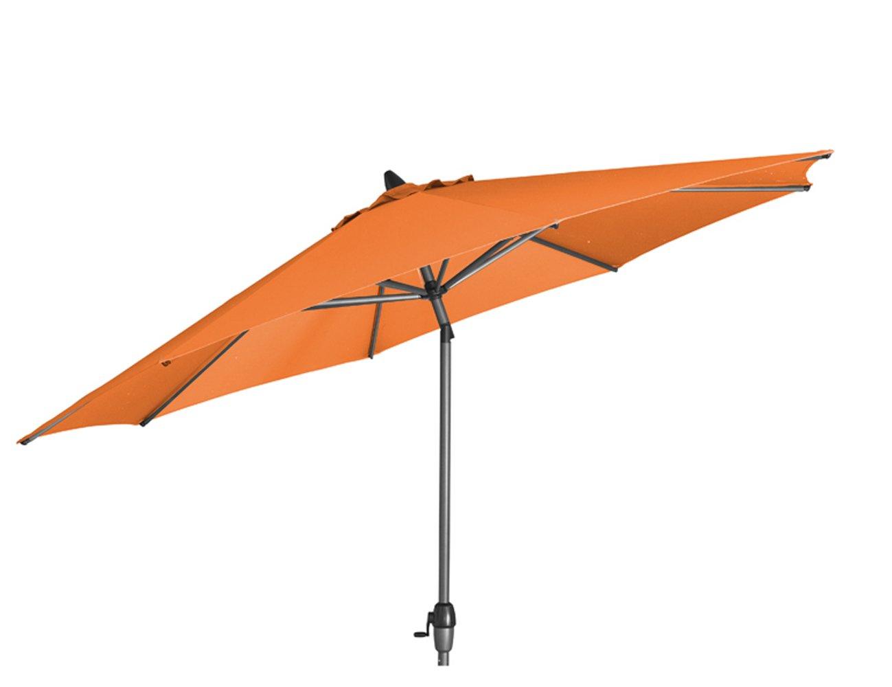 Siena Garden 673226 Azaro Marktschirm Bezug orange Gestell anthrazit Ø 300 cm