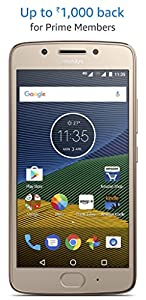 Moto G5 (3 GB, Fine Gold) Rs.11,999/-