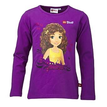 LEGO Wear Sweatshirt  Col ras du cou Opaque Fille - Violet - Violett (639 PURPLE) - FR : 4 ans (Taille fabricant : 104)