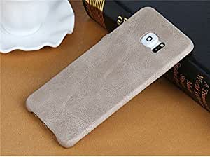 AE USAMS BOB Series Soft PU Leather Back Case Cover for SAMSUNG GALAXY S6 EDGE PLUS LIGHT BROWN
