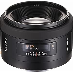 Sony 50mm f/1.4 Lens for Sony Alpha Digital SLR Camera