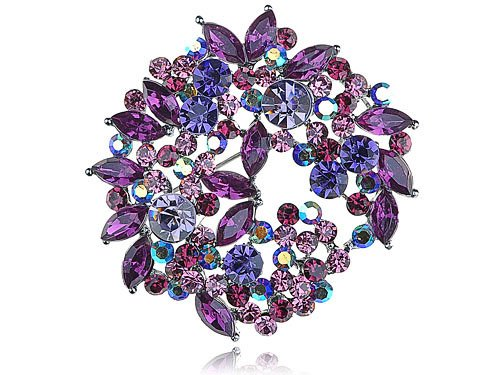 Beautiful Fuchsia Violet Purple Crystal Rhinestone