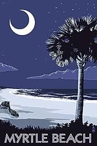 Myrtle Beach South Carolina Palmetto Moon 16x24 Giclee Gallery Print Wall