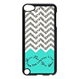 Design For You Colorful Chevron Pattern Live the Life You Love, Love the Life You Live IPOD TOUCH 5th Durable Plastic Case Without Glitter