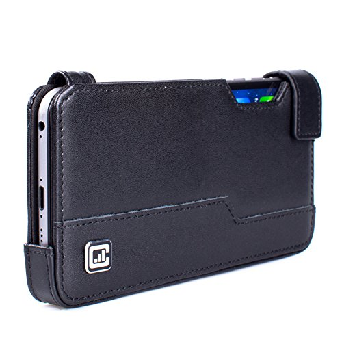 CASE123 MPS Mk III Premium Genuine Cowhide Leather Ultra Slim Carrying Sleeve Pouch for Apple iPhone 6 Plus (5.5 inch screen) - Black Cowhide coupon codes 2016