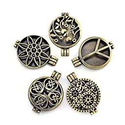 Diffuser Locket Pendants for Aromatherapy Essential Oil Necklace DIY Jewelry Making