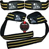 Lifting Straps (2 Pairs/4 Straps) for Weightlifting/Crossfit/Workout/Gym/Powerlifting/Bodybuilding - Better Than Chalk & Leather - Support For Women & Men - Premium Quality Equipment & Accessories - Use Gloves, Hooks, Wrist Wraps & Straps to Avoid Injury During Weight Lifting - 1 Year Warranty!
