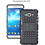 Yes2Good Hybrid Military Grade Armor Kick Stand Back Cover Case For Samsung Galaxy J2 Sm-J200F (Black)