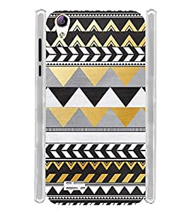 Pattern Tribal Art Brown Soft Silicon Rubberized Back Case Cover for Vivo Y31