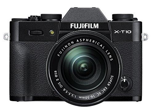Fujifilm X-T10 Black Mirrorless Digital Camera Kit with XC 16-50mm F3.5-5.6 OIS II Lens