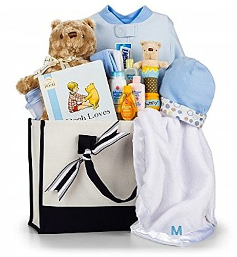 Baby Boy Gifts Sets : Winnie the pooh embroidered baby gift set boy dealtrend
