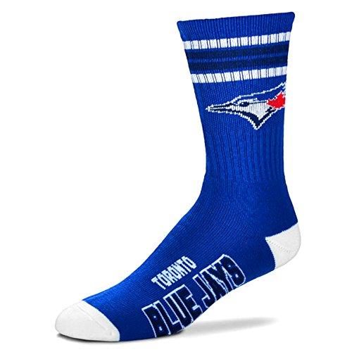 mlb-4-stripe-deuce-socks-mens-large-fits-10-13-toronto-blue-jays