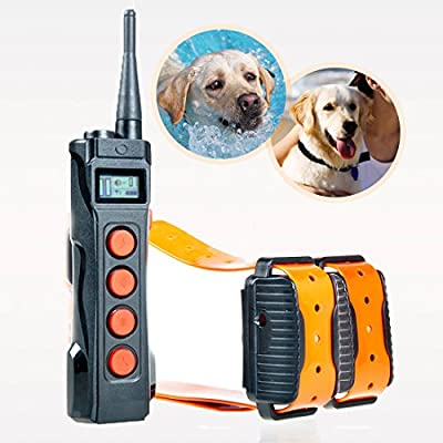 Aetertek® newest AT-919C 1000M Remote 1&2 Dogs Training Shock Collar Auto Anti Bark Submersible with LCD display