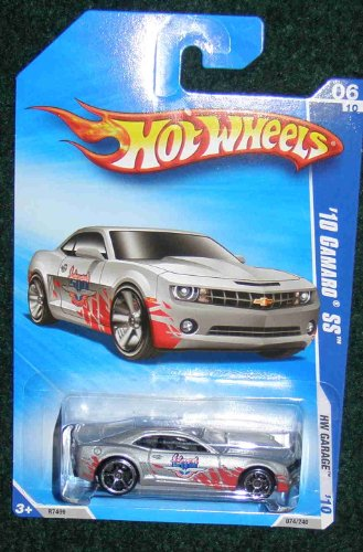 HOT WHEELS 2010 HW GARAGE 06 OF 10 SILVER W/INDY 500 '10 CAMARO SS
