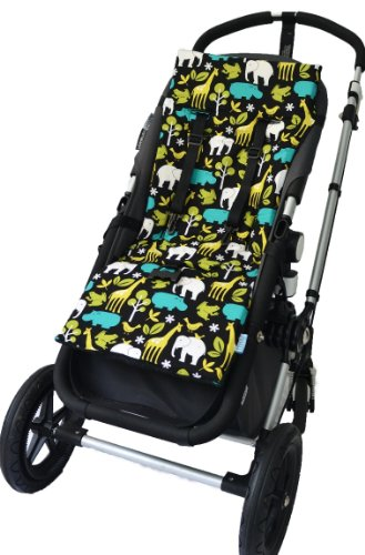 Tivoli Couture Nu Comfort Memory Foam Stroller Pad and Seat Liner, At the Zoo