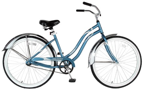 Victory Ladies Touring One Cruiser Bike (Light Blue/White, 26 X 18-Inch)