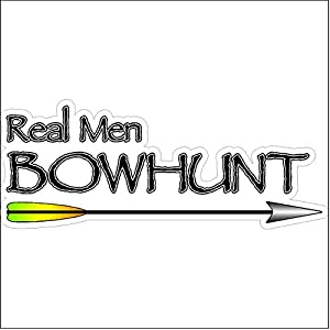 Real Men BowHuntFunny Hunting Decal Deer Car Truck Removable Bow