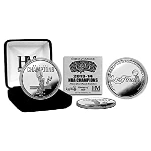 San Antonio Spurs 2014 NBA Finals Champions Silver Mint Coin by Highland Mint