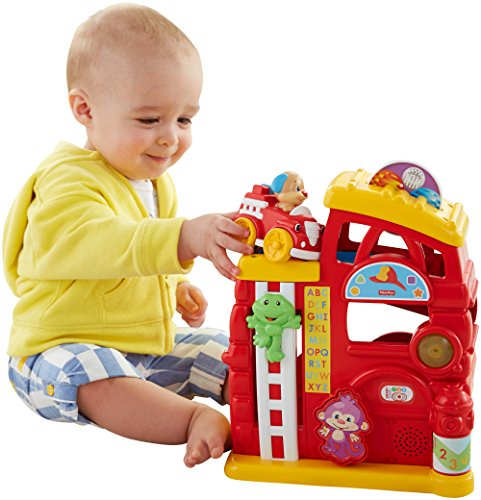 Fisher-Price Laugh & Learn Monkey's Smart Stages Firehouse - 1