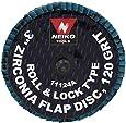 Neiko Roloc Type 3-Inch Flap Disc, Zirconia, 120 Grit, 10 Pieces
