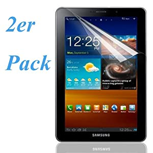 Tinxi 2er Set Display schutz Folie Schutzfolie screen protector für Samsung Galaxy Tab 7.7 P6800 Antireflex