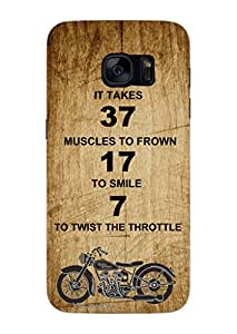 MiiCreations 3D Printed Back Cover for Samsung Galaxy S7,Quotation