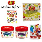 Medium Jelly Belly 5 Piece Gift Set (Tealight Candles, Scented Candles Tins, Air Freshener & Candy Jelly Bean Sweets)