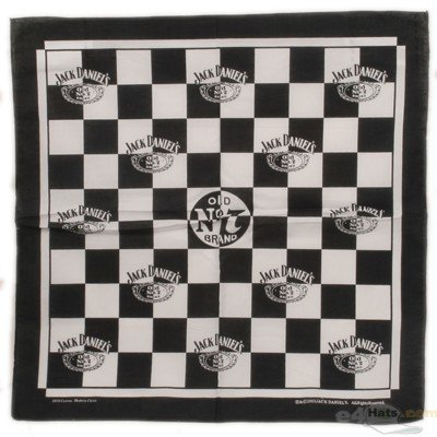 Jack Daniel's Paisley Bandanna - Checker Board - Buy Jack Daniel's Paisley Bandanna - Checker Board - Purchase Jack Daniel's Paisley Bandanna - Checker Board (E4hats, E4hats Hats, Womens E4hats Hats, Apparel, Departments, Accessories, Women's Accessories, Hats)