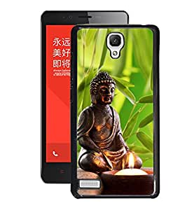 Fuson 2D Printed Lord Buddha Designer Back Case Cover for Xiaomi Redmi Note 4G - D564