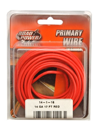 Coleman Cable 14-1-16 14-Gauge 17-Foot Automotive Copper Wire, Red