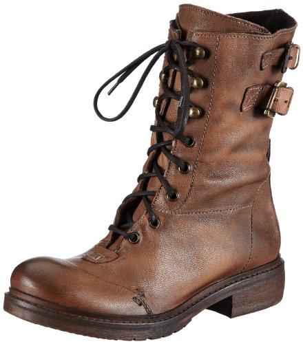 Manas Womens TRONCHETTO DONNA Combat Boots Brown Braun (GHIANDA+GHIANDA) Size: 5 (38 EU)