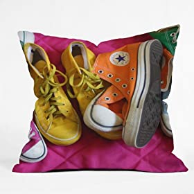 DENY Designs Barbara Sherman My Shoes Throw Pillow