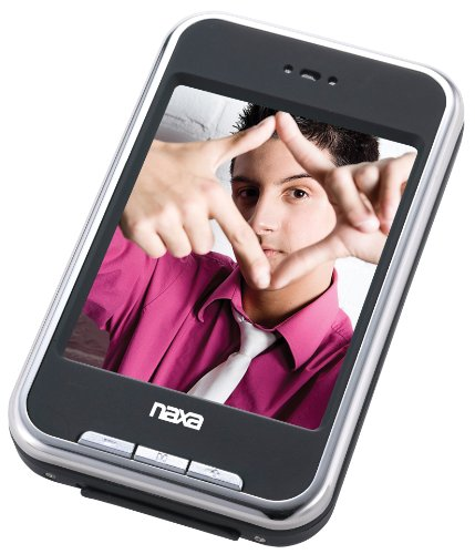 Naxa Portable Media Player with 2.8-Inch Touch Screen, Built-in 4 GB, Spk, FM, Camera, and Built-in SD Card Slot
