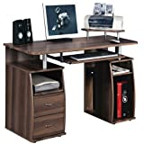 Office Computer Desk Dark Walnut 5w