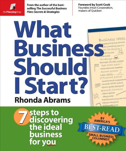 What Business Should I Start  7 Steps to Discovering the Ideal Business for You096697770X