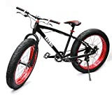 Fatso Bikes Fat Bike ビーチクルーザー自転車 Fatbike ファットバイク Black x Red 26インチ ランキングお取り寄せ