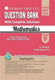 Oswaal CBSE CCE Question Bank with complete solutions For Class 9 Term II (October to March 2015) Mathematics