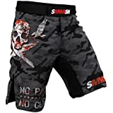 Shorts SMMASH Combat Grey SMMASH MMA BJJ UFC Boxen Kampfsport K1 S M L XL XXL