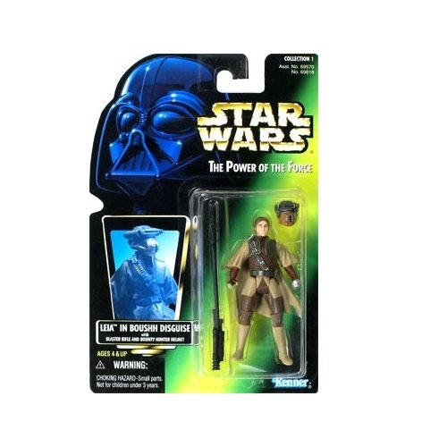 Star Wars: Power of the Force Green Card Leia in Boushh Disguise Action Figure