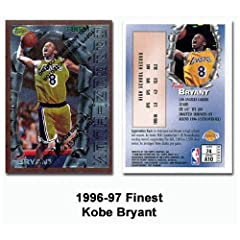 Topps Finest Los Angeles Lakers Kobe Bryant 1996-97 Rookie Card by Topps