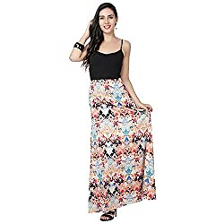 Eavan Women's Party Wear Abstract Polyester Skirt