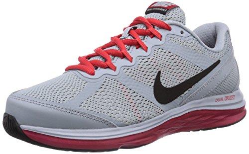 ca1de29db81c7 Boy's Nike Dual Fusion Run 3 Running Shoe Grey/Red/Black Size ...
