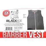 Black Ice Barber Vest Size Black 3X-Large, Professional, Barber Cape, Barber, Salon, Polyester, Fabric, Polyester...