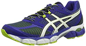 Asics GEL Pulse 5 - Zapatillas de running para hombre, color azul / blanco / verde, talla 44