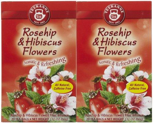 Teekanne Hip Rose Herbal Tea, 20 Ct, 2 Pk