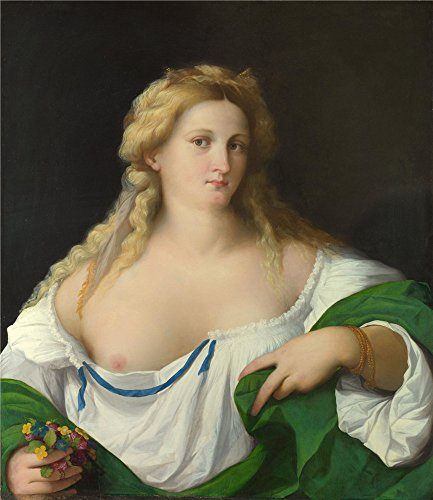 palma-vecchio-a-blonde-woman-oil-painting-16-x-18-inch-41-x-47-cm-printed-on-polyster-canvas-this-am
