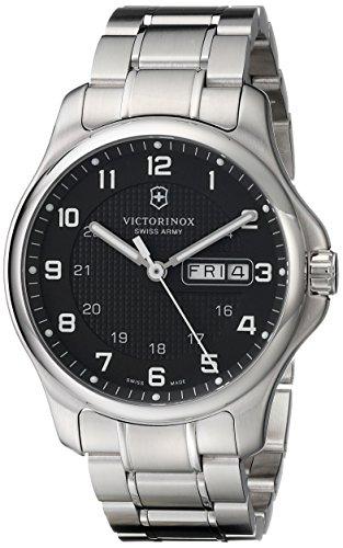 Victorinox Men'S 241590 Officers Analog Display Swiss Quartz Silver Watch